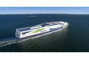 Stena Line aims to launch a fully battery powered vessel before 2030. Stena Elektra is a lightweight battery powered vessel with capacity to run approximately 50 nautical miles on batteries only, i.e. between Gothenburg or Fredrikshaven. (Image: Peter Mild / Stena Line)