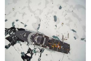 The vessel at the North Pole (CREDIT Norwegian Coast Guard)