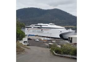 Virtu Ferries ship launched at Incat. Photo: Incat