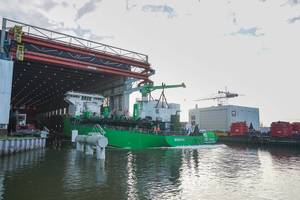 World's first LNG-powered hopper dredger Minerva launched Photo Royal IHC