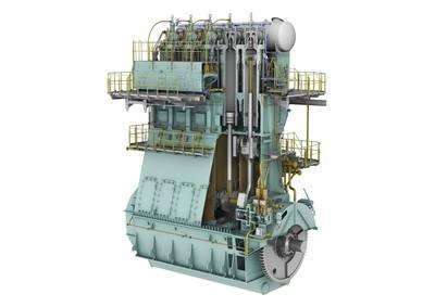 5X72DF engine cut-out view. (Photo: Winterthur Gas & Diesel Ltd. (WinGD))