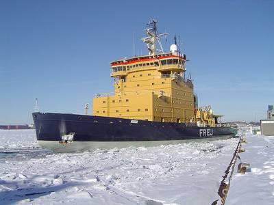Arctic Icebreaker: Photo credit Marcusroos Free GNU License