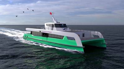 Artist's impression of the electric ferry (Photo credit: Incat Crowther UK)