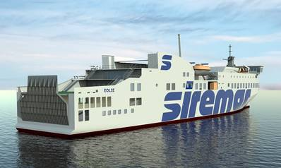 The new Caronte & Tourist ferry (Image: NAOS)