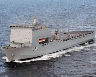 HMAS Choules: Photo credit RAN