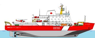 Conceptual depiction of new icebreaker.