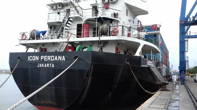 PT Indo Container Line - MV Icon Perdana (Photo courtesy of Shell)