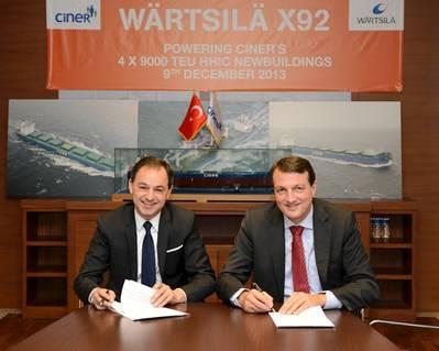 Contract signatures: Photo Wärtsilä