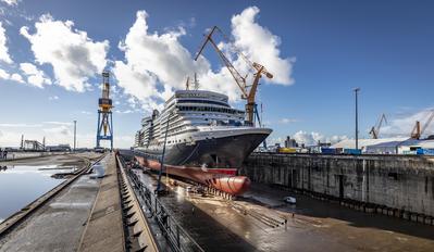 Cunard's Queen Elizabeth (Photo: Damen Shiprepair Brest)