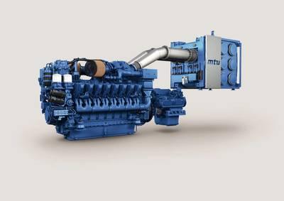 The mtu engine 16V 4000M65L (Image: Rolls-Royce)