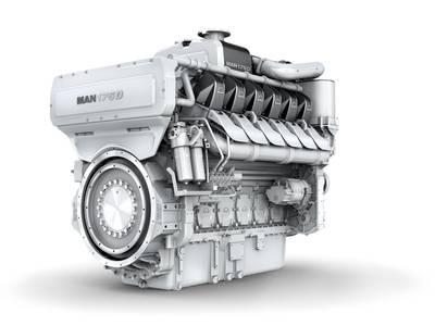 The MAN 175D engine (Image: MAN Diesel & Turbo)