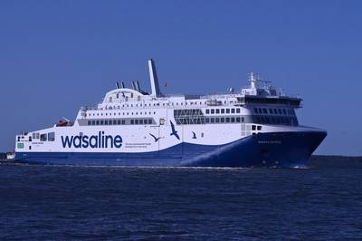 Wasaline's new environmentally-friendly ferry, Aurora Botnia. (Photo: Wasaline)