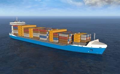 GNS Feeder containership: Rendering courtesy of Wärtsilä