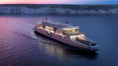 P&O Ferries' new series of 'super ferries' will be powered by Wärtsilä 31 engines fitted with the latest Wärtsilä Data Communication units. (Image: P&O Ferries)