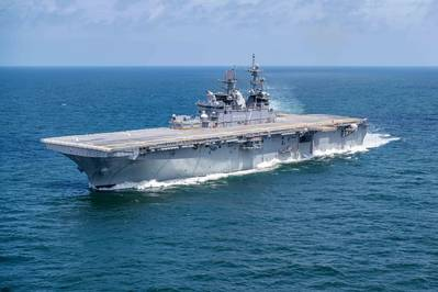 The Ingalls-built amphibious assault ship Tripoli (LHA 7) (Photo: Derek Fountain / HII)