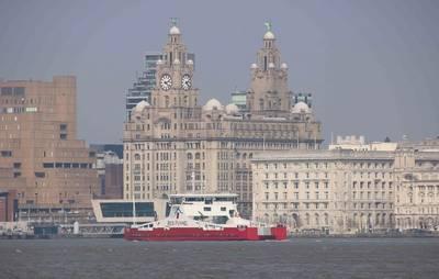 Red Kestrel sea trials April 2019 River Mersey - copyright Cammell Laird