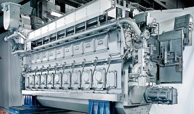 Library photo of the MAN 32/40 engine (Photo: MAN Diesel & Turbo)