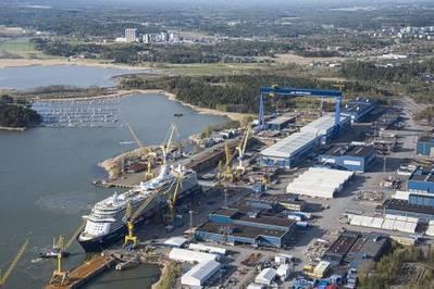 Meyer Werft's shipyard in Turku, Finland (Photo: Meyer Werft)