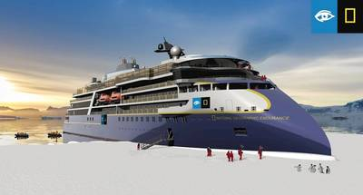 National Geographic Endurance rendering. Image courtesy of Lindblad Expeditions Holdings, Inc