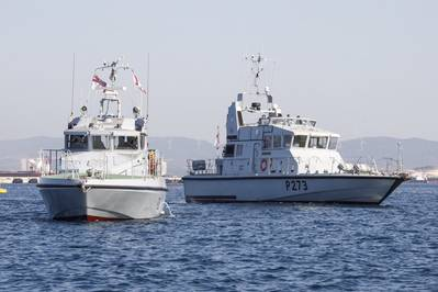 The newbuilds will replace the Gibraltar Squadron fast patrol craft HMS Pursuer and HMS Dasher. (Photo: U.K. Royal Navy)