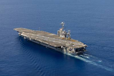 HII's Newport News Shipbuilding division has received a $52 million contract from the U.S. Navy for work on the aircraft carrier USS Harry S. Truman (CVN 75), shown here transiting the Atlantic Ocean in August. (Photo: U.S. Navy)