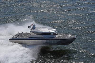 In order to fully optimize the hull and propose a more mature design, Metal Shark built a PBX running prototype hull, designated PB(X)-P1, which was extensively tested in a wide range of operating conditions. (Photo: Metal Shark)