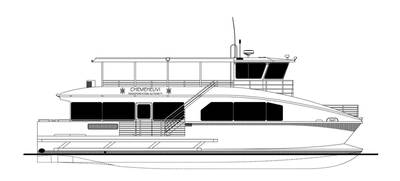 65' passenger catamaran for the Chemehuevi Transit Authority of Lake Havasu, California.