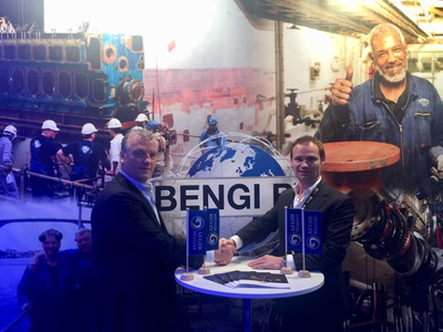 Photo: Ben de Kok, Managing Director, Bengi BV (L), Paul Grizell, Sales Director, AEGIR-Marine (R) (Photo: AEGIR-Marine)