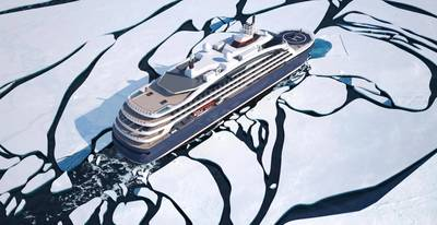 Ponant's new cruise vessel will feature advanced environmental performance with Wärtsilä LNG solutions. (Image: Ponant)