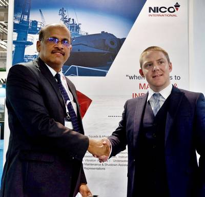L to R : Prakash Kumar (General Manager – NICO International), Chris McMenemy (Managing Director - Cleanship Solutions Ltd.) (Photo: Cleanship)