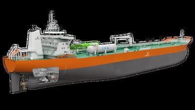 The new propulsion arrangement designed by Wärtsilä and RINA offers a future-proof and efficient alternative to conventional designs. © Wärtsilä Corporation