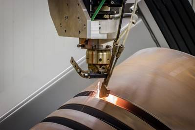 QuantiServ laser cladding (Photo: Wärtsilä)