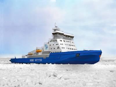 Rendering of the icebreaker courtesy of Wärtsilä