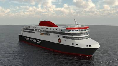 Rendering of the new IOMSP ferry Manxman (Image: IOMSP & Houlder)