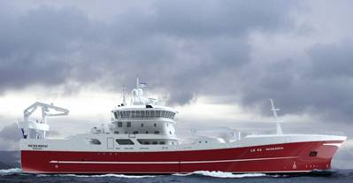 Rendering of a new trawler to be built for Reseach Fishing Co (Image: Wärtsilä)