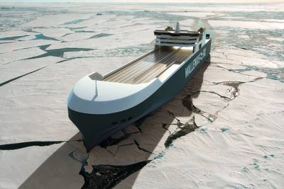 A rendering of the new RoRo vessel (Image: Wallenius SOL)