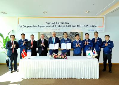 Representatives at the MoU signing ceremony (Photo: MAN Diesel & Turbo)