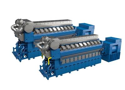 The new Rolls-Royce medium speed V engines will consist of 12, 16 and 20 cylinder, and are available in both gas and liquid fuel variants. (Image: Rolls-Royce)