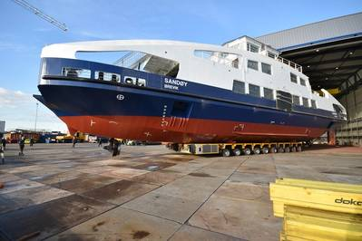 Sandøy is the first fully electric ferry for the Norwegian operator Brevik Fergeselskap. (Photo: SCHOTTEL)
