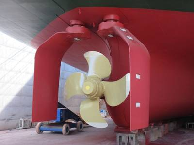 This Shigenobu vessel has been fitted with the gate rudder for evaluation purposes. (Photo: Yamanaka shipbuilding)