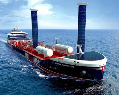 Stena Bulk's new chemical and product tanker design aims to significantly reduce greenhouse gas emissions. (Image: Stena Bulk)