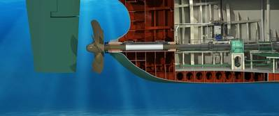 Thordon's seawater lubricated propeller shaft bearing system eliminates oil pollution from the ocean and waterways (Image: Thordon Bearings)