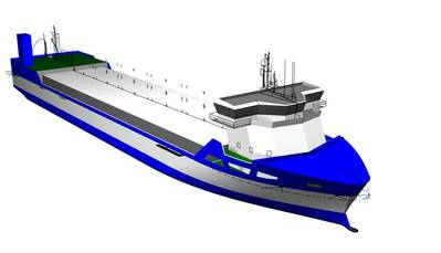 Three LNG-fueled short-sea vessels for Bore Ltd will be equipped with optimized Wärtsilä integrated LNG systems. (Image: Conoship/Bore)