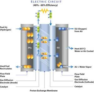 How a PEM Fuel Cell Works. (Image: http://www.ballard.com)