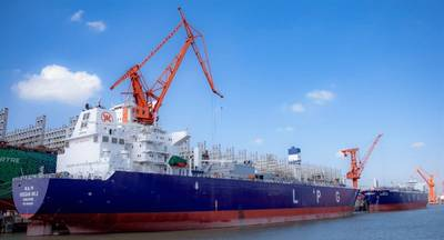 Wärtsilä delivers Cargo Handling and LPG Fuel Supply Systems for two new VLGCs for Oriental Energy. © Oriental Energy