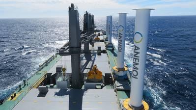Wärtsilä will include Anemoi Marine Technologies' Rotor Sails as part of its propulsion offering. (Photo: Anemoi Marine Technologies)