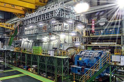 11G95ME-C9.5 engine during its shop test in Korea (Photo: Doosan)