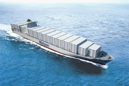 Artist impression of Matson's Aloha-class containership (Image: Matson)