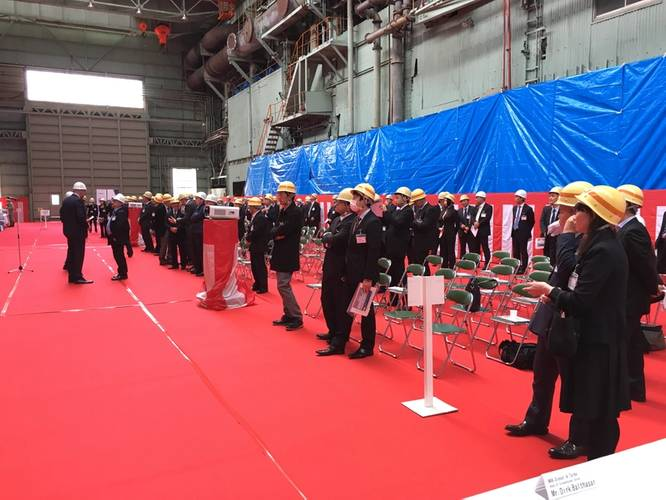 Some of the attendance at the Mitsui event (Image: MAN Diesel & Turbo)