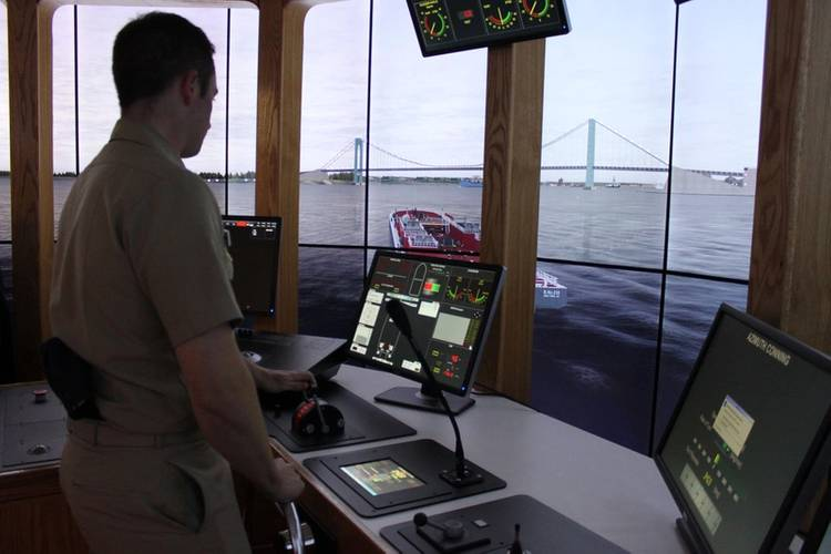 The new Bouchard Tug & Barge Simulation Center on the campus of SUNY Maritime. (Photo: Greg Trauthwein)